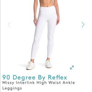 NWT 90 Degree White High Waist Leggings